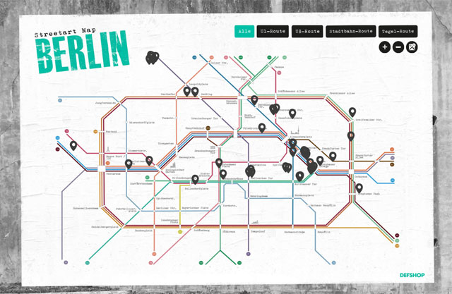 Streetart Map Berlin defshop
